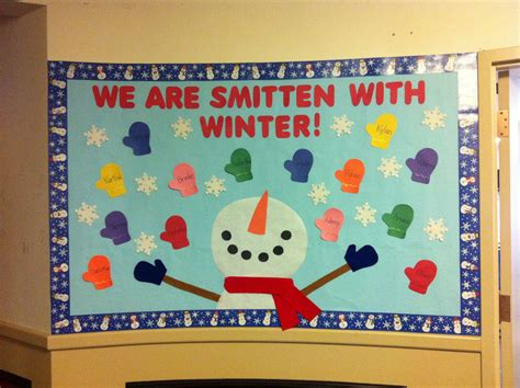 winter bulletin board quot we are smitten with winter quot and