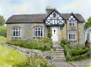 pretty house in kent watercolour