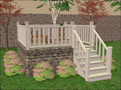 mod  sims modular stairs fence gate column add ons
