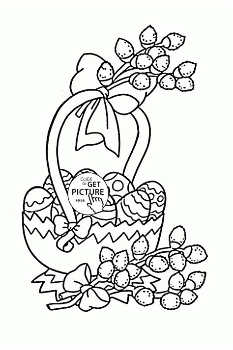 beautiful easter baskets beautiful easter basket eggs coloring page for