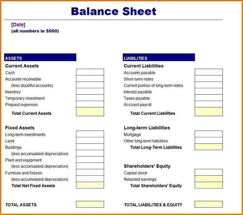 Balance Sheet Template Pdf by Free Balance Sheet Template Authorization Letter Pdf