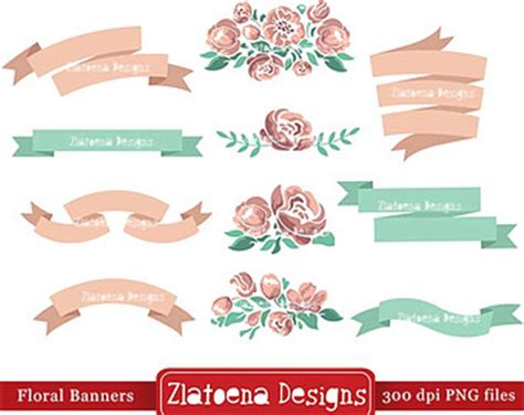 Wedding Banner Etsy by 49 Floral Banner Clip