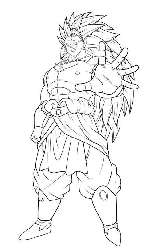 broly coloring pages kids coloring