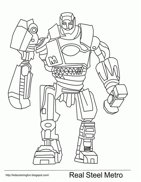 real steel noisy boy and other fantasy coloring pages real