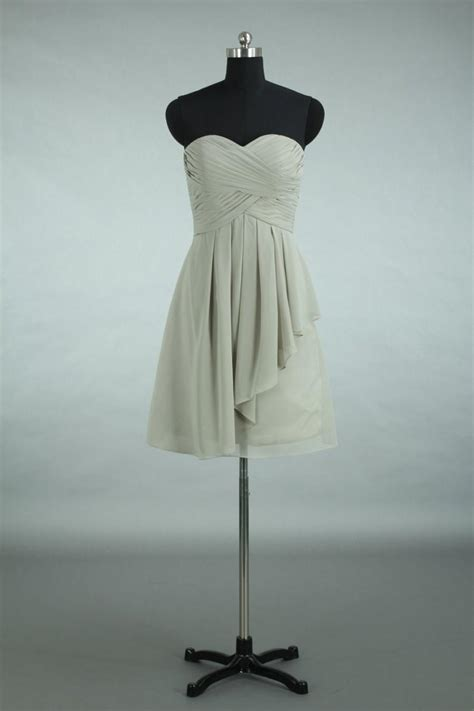 Bridesmaid Dresses Asymmetrical Hem - grey bridesmaid dress asymmetrical hem sweetheart