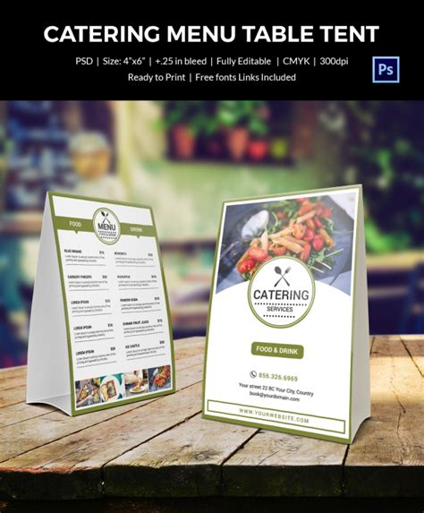 table tent menu template table tent template 37 free printable pdf jpg psd