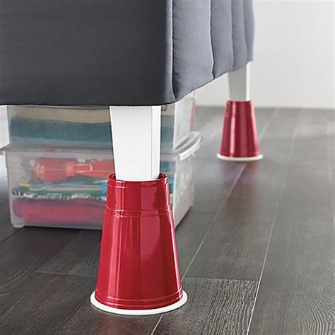 bed lifters bed bath and beyond 8 inch red solo cup bed risers set of 4 bed bath beyond