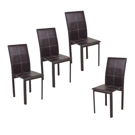 chaise cuir noir salle manger chaise de salle a manger simili cuir