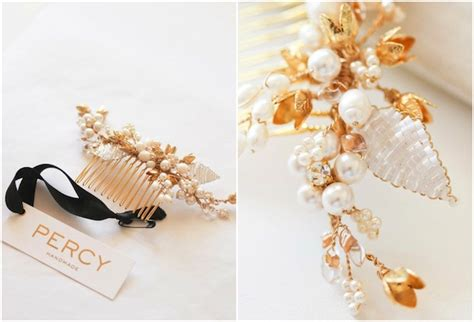 Percy Handmade - gold bridal hair pieces percy handmade