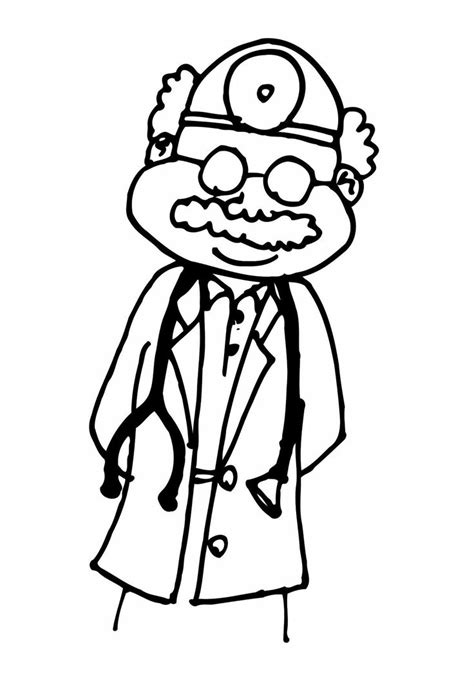 doctor coloring free printable kids coloring pages