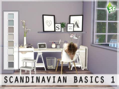 sims resource scandinavian wall set  simfabulous