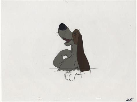 aristocats dogs auction howardlowery disney the aristocats handsome animation cel of hound