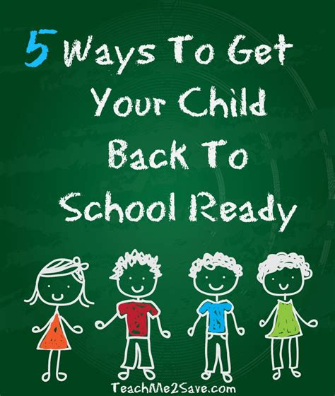 Ways To Get A by 5 Ways To Get Your Child Back To School Ready Funtastic