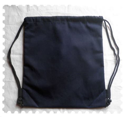 String Bag Tas Serut unique bag black canvas black canvas drawstring bag