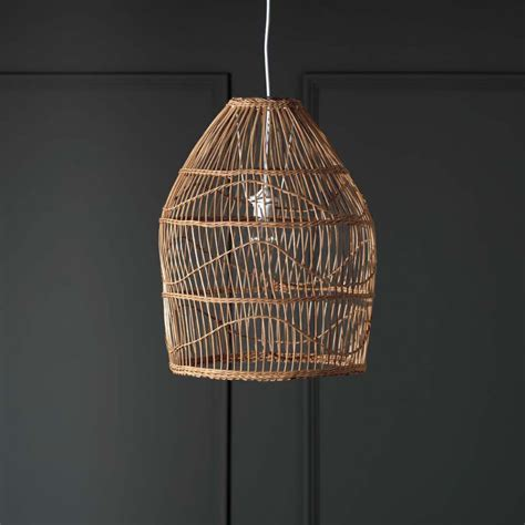 Wicker Pendant Lights Zolan Rattan Pendant Shade Chandeliers Ceiling Lights Graham Green