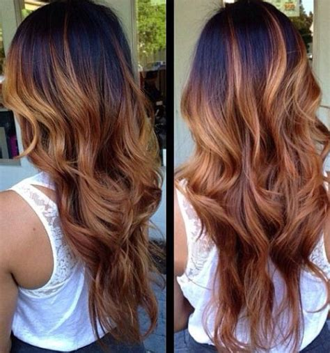light brown ombre hair color ideas ombre hair black to red brown www pixshark com images