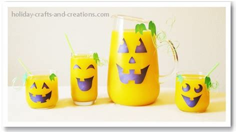crafts and creations printables pumpkin glasses