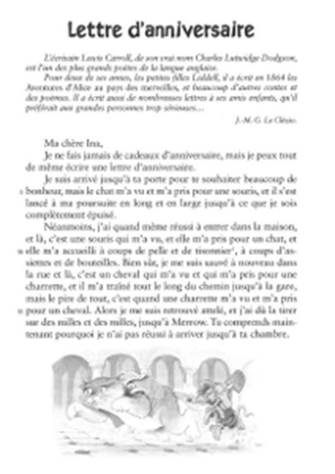 Modèles De Lettre Anniversaire Lecture Ce2 Lettre D Anniversaire Lewis Caroll