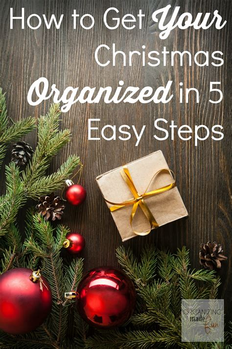 how to organize a christmas tree how to get your organized in 5 easy steps