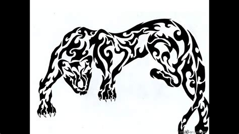 tribal cougar tattoo designs tribal panther in black wallpaper