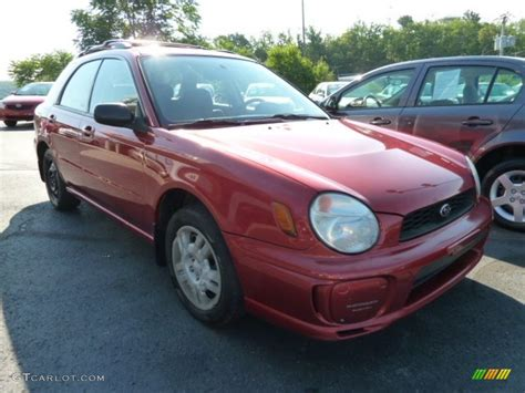 red subaru sedan 2002 sedona red pearl subaru impreza ts wagon 67744934
