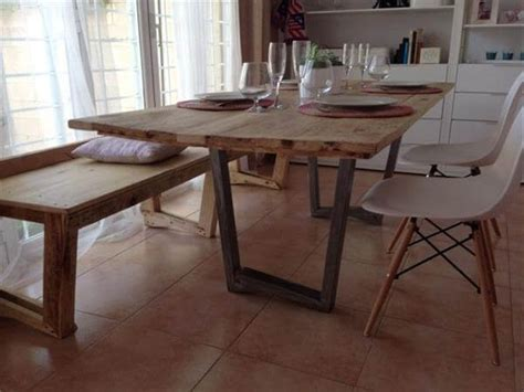Diy Industrial Dining Room Table Built Pallet Industrial Dining Table Pallet Furniture Diy