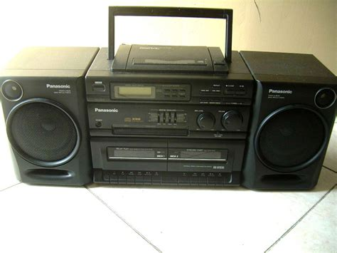 cd radio cassette player panasonic stereo boombox am fm radio cassette cd player