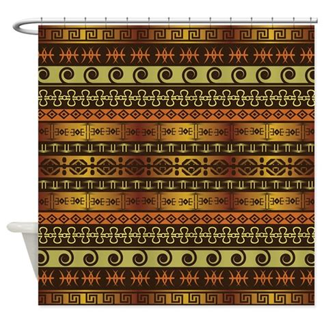 gold african pattern shower curtain elegant gold african pattern by thehappyhome1