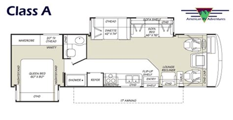 class a floor plans american rv adventures class a bus style details