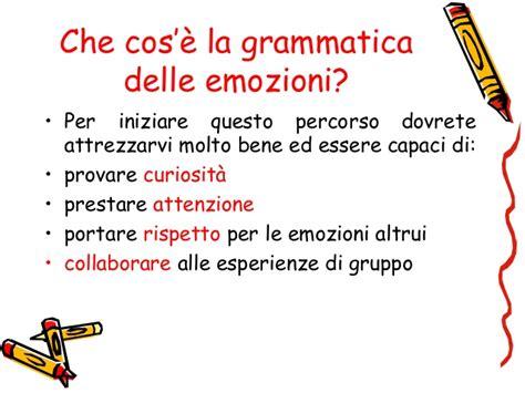 la delle emozioni la grammatica delle emozioni