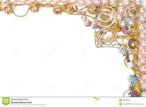 Jewelry Border Stock Photo Image Of Ritch Frame Karat 16642348 Jewelry Border Clip