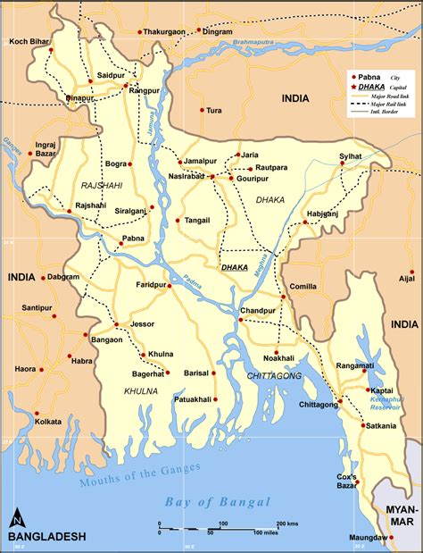 map of bangladesh file map bangladesh roadrail png wikimedia commons