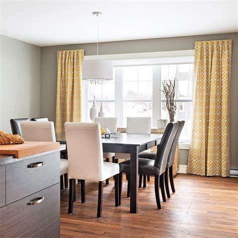 Rideaux Salle A Manger Moderne rideaux punch 233 s dans une salle 224 manger sobre et