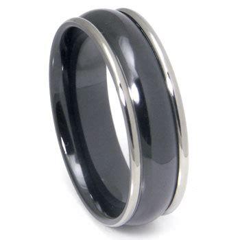 Wedding Ring Black Zirconium by Black Zirconium Wedding Band Ring