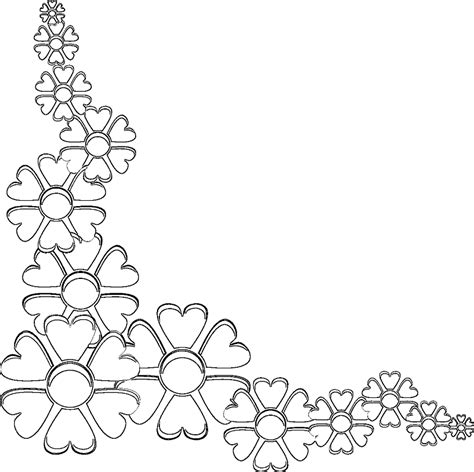 rose border coloring page coloring page flower border free vector download 33846