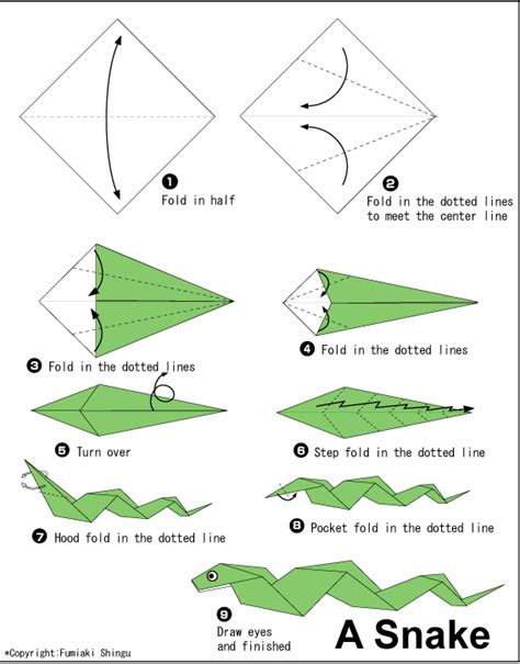 Simple Origami Directions - ikuzo origami
