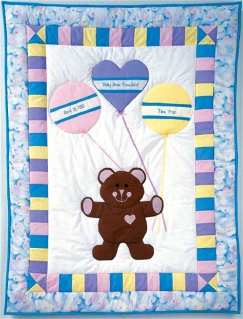 printable baby quilt patterns birth bear baby quilt pattern howstuffworks
