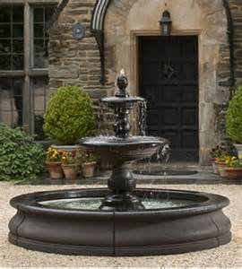 Outdoor Lighted Fountains Jardines Peque 241 Os Con Fuente