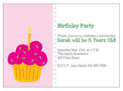 cupcake thank you card template printable cupcake birthday invitations