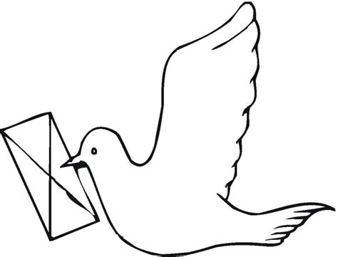 letter carrier coloring page coloring pages