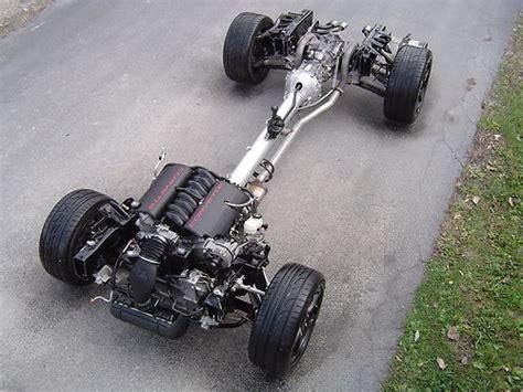 Literal Wheels Frame 01 c5 corvette ls1 engine 6spd manual rolling chassis 56k