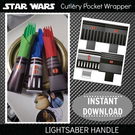 printable star wars napkin rings star wars printable cutlery pocket wrappers napkin