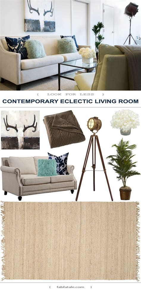 home decor for less contemporary eclectic living room look for less fab fatale