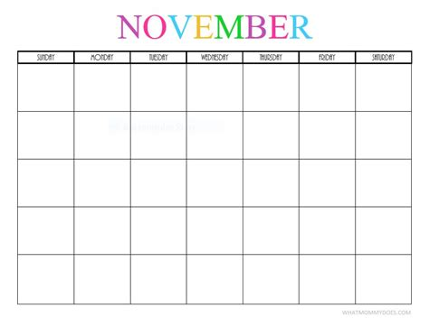 printable monthly calendar november and december 2017 free printable blank monthly calendars 2017 2018 2019