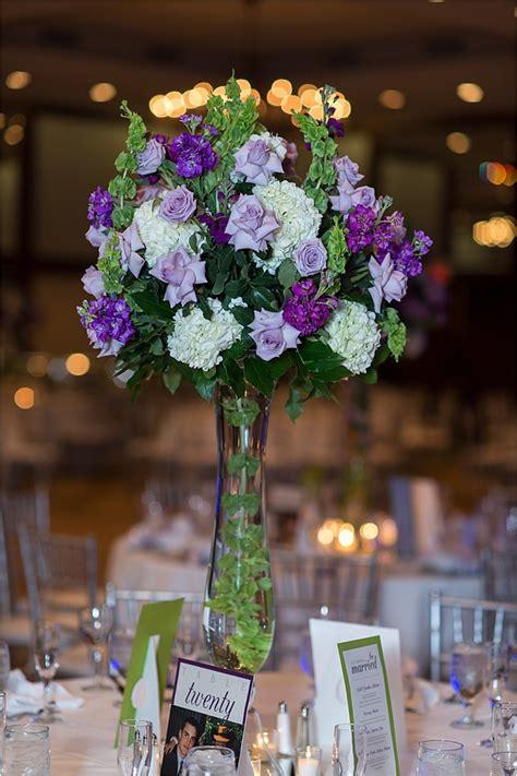 purple and green wedding centerpieces bouquet 171 houston wedding