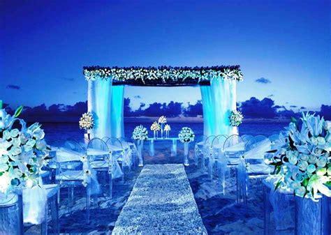 blue theme for royal wedding ceremony weddceremony