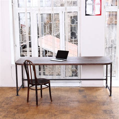 reclaimed wood office desk your office more eco with a reclaimed wood desk