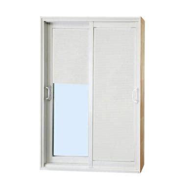 Sliding Patio Doors Home Depot Stanley Doors 60 In X 80 In Sliding Patio Door With Mini Blinds 500004 The
