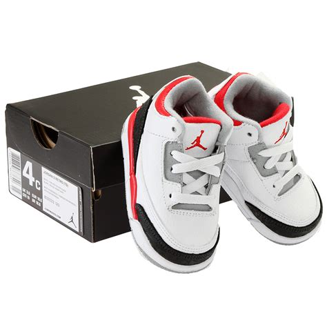 infant size 3 shoes nike 3 retro td toddler 832033 120 baby shoes
