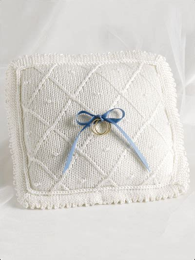 Knitted Wedding Gift Ideas by Knitting Gifts Wedding Pillow